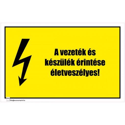 A vezeték és a készülék érintése életveszélyes! 1