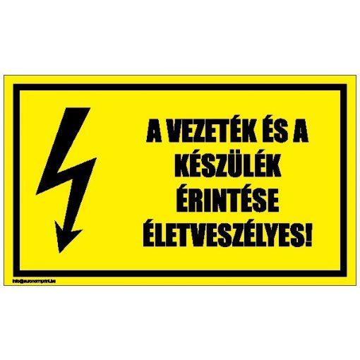 A vezeték és a készülék érintése életveszélyes! 2