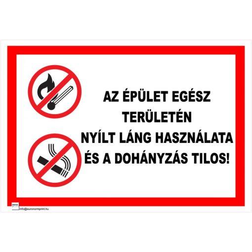 Az üzem területén nyílt láng használata és a dohányzás tilos!
