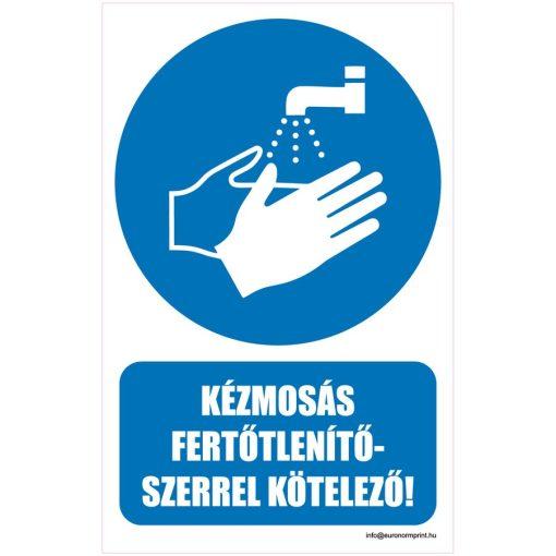Kézmosás fertőtlenítőszerrel kötelező