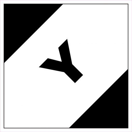 """LQ jelölés """"Y"""" légi tájékoztató cimke"""