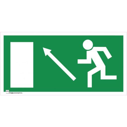 Menekülési út a lépcsőn fölfelé, balra
