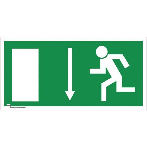Menekülési út lefelé, ajtó balra
