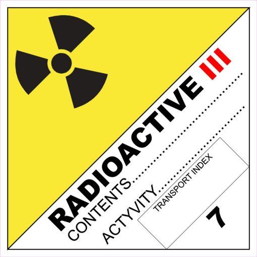 Radioaktív anyag III