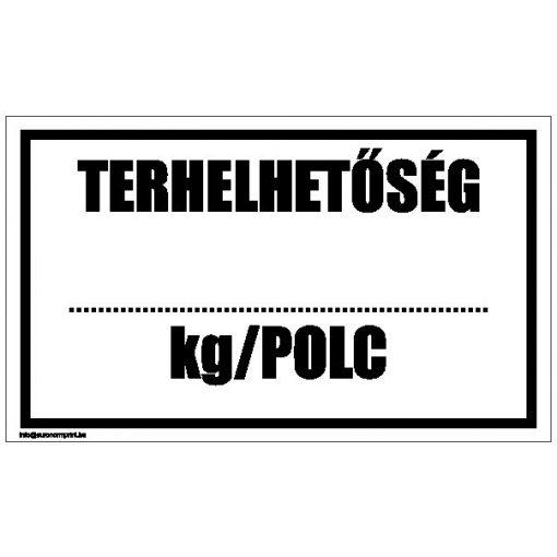 Terhelhetőség ... kg/polc