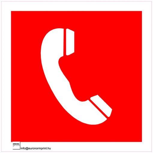 Tűzbejelentő telefon jel