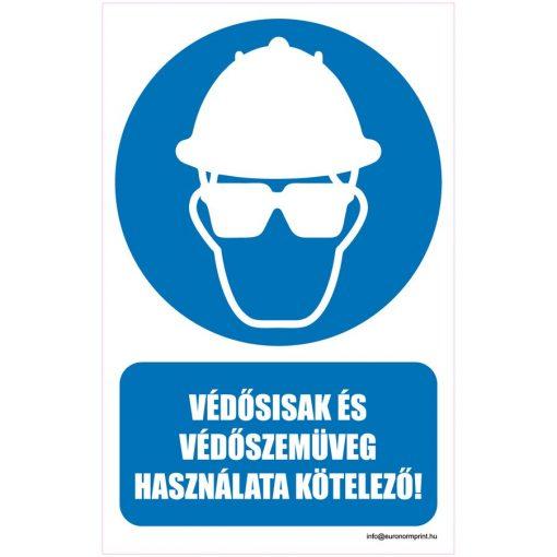 Védősisak és védőszemüveg használata kötelező