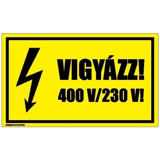 Vigyázz! 400 V/230 V!