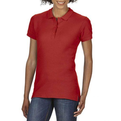 Gildan Premium Cotton női galléros póló